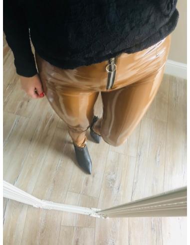 Spodnie jasny brąz lateksowe