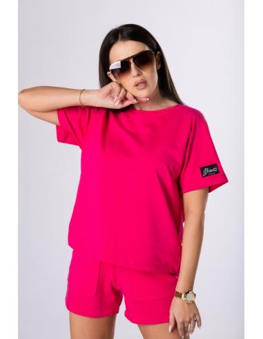 Dresowy t-shirt różowy