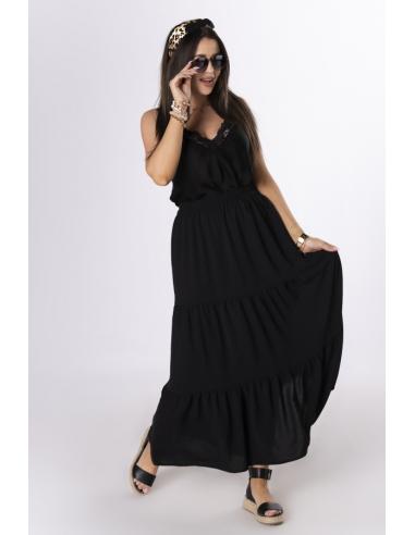 Spódnica trapezowa maxi czarna