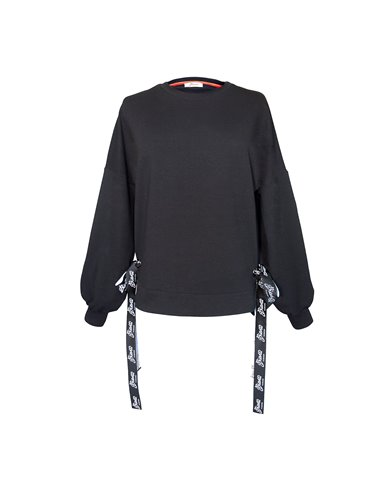 Czarna bluza damska bufiaste rękawy