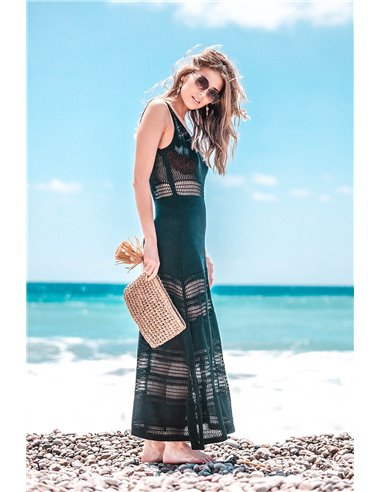 Czarna sukenka plażowa z ażurem